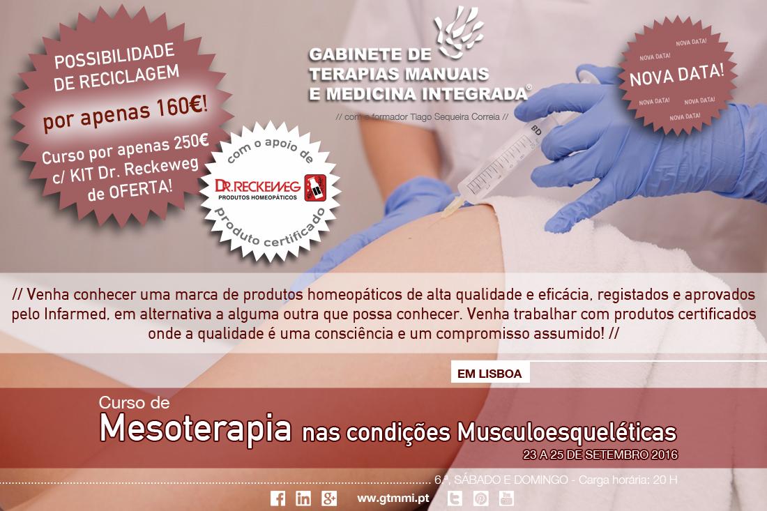 Curso de Mesoterapia nas Condições Musculoesqueléticas